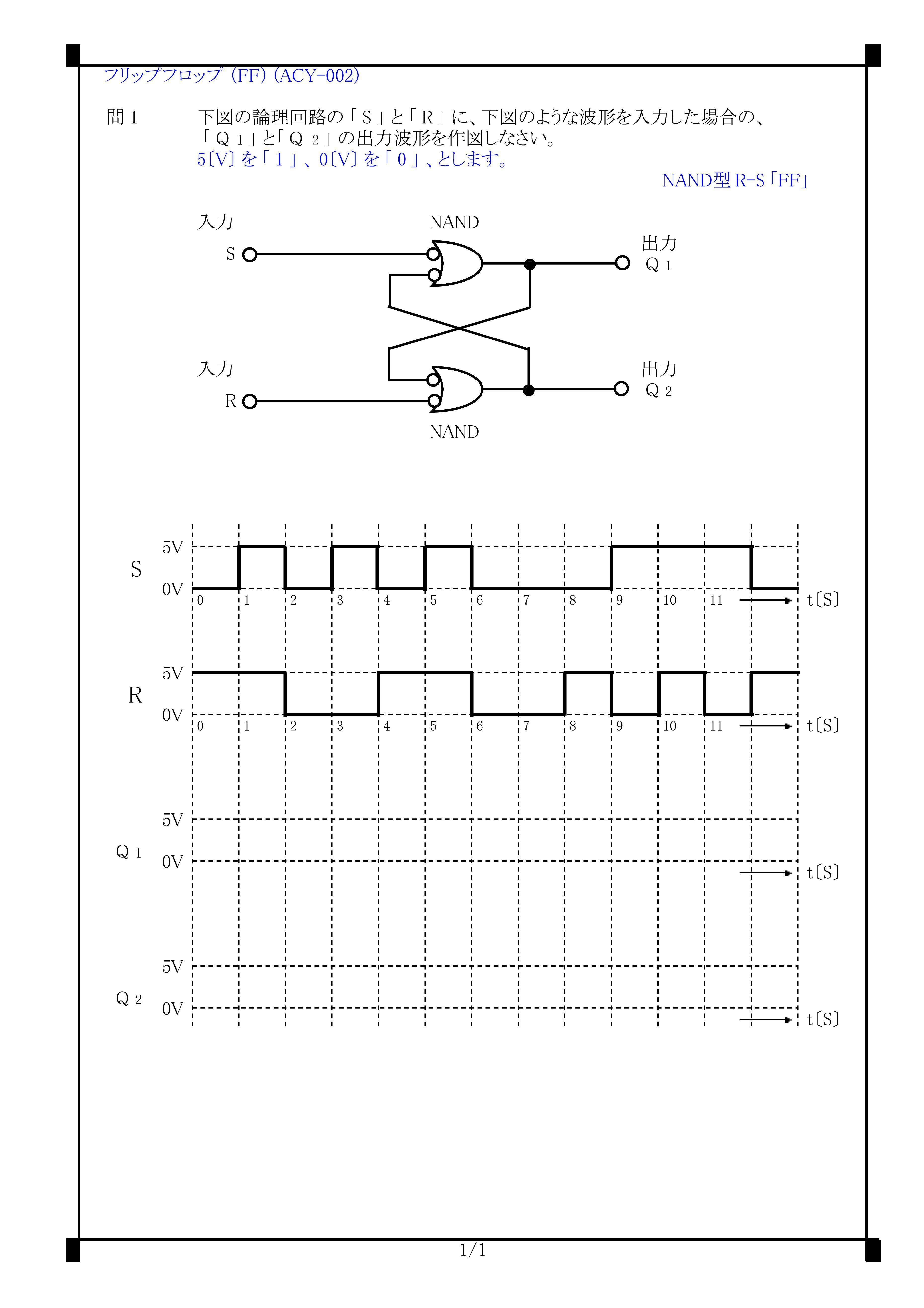 ACY-002)RSフリップフロップの動作(RS_FF・NAND型RSフリップフロップ ...