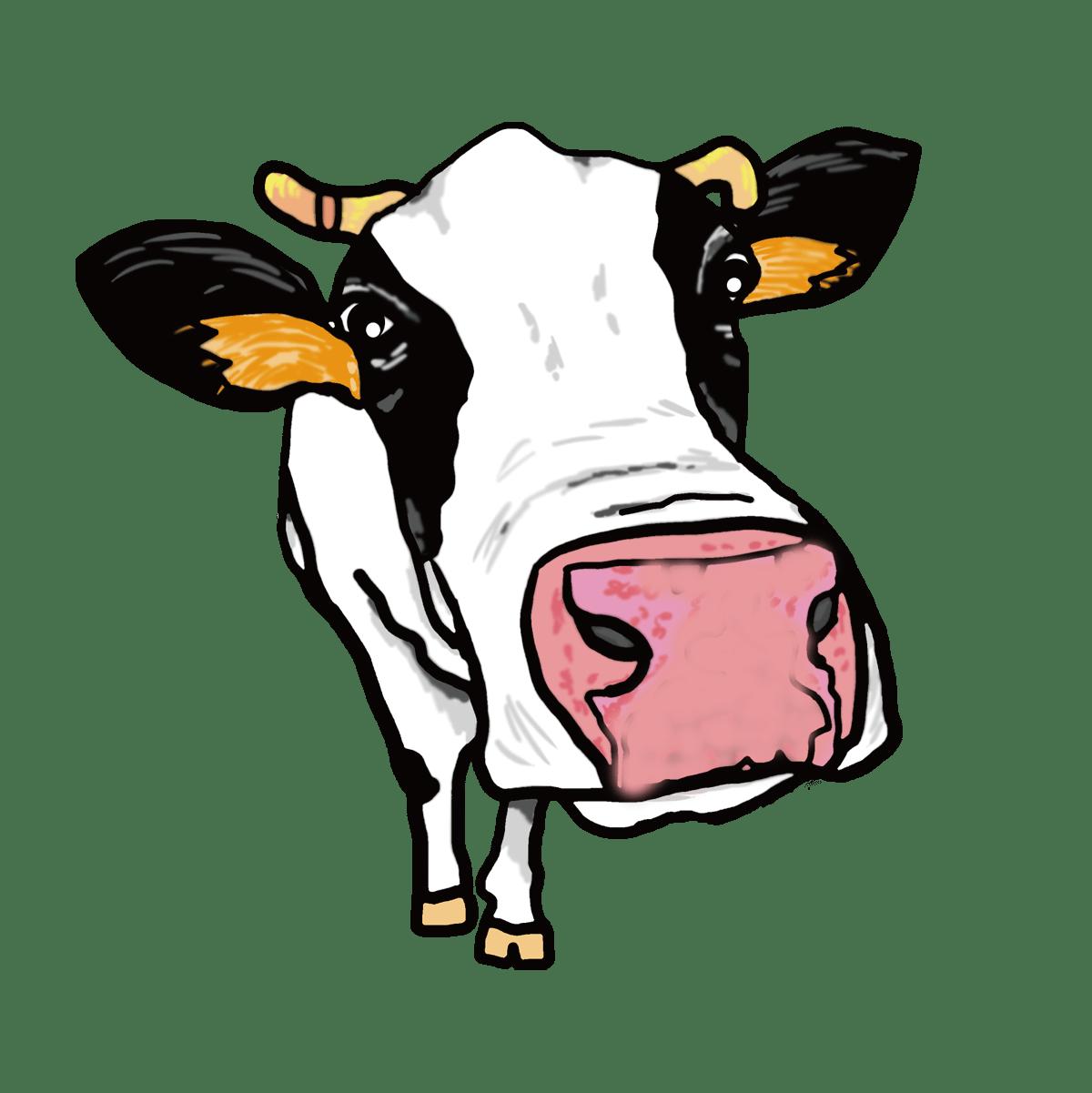 牛 の イラスト 年賀状