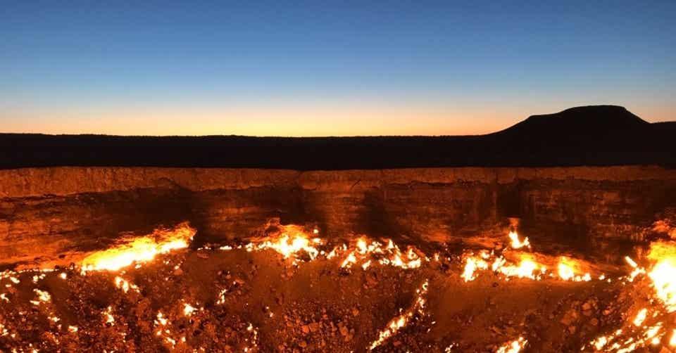 トルクメニスタン 地獄 門