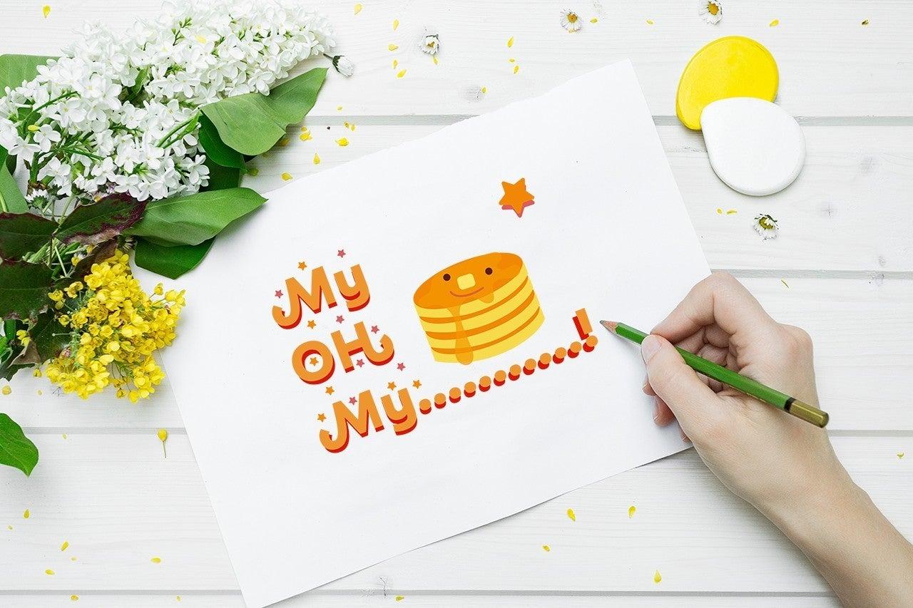 あったかふわふわ 元気を届ける美味しいパンケーキ壁紙シリーズ リトマム Little Mom Note