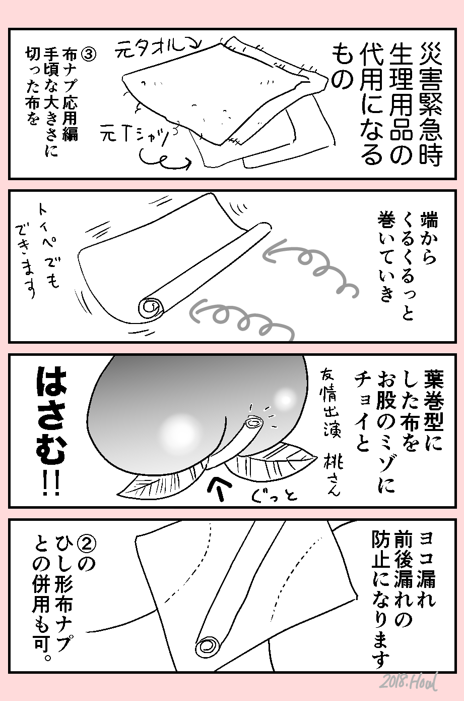 ナプキン 代用 生理