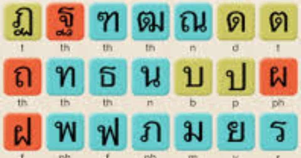 タイ文字を覚えようとら タイ人挑戦中note