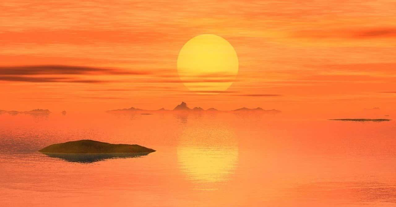 夕日と朝日