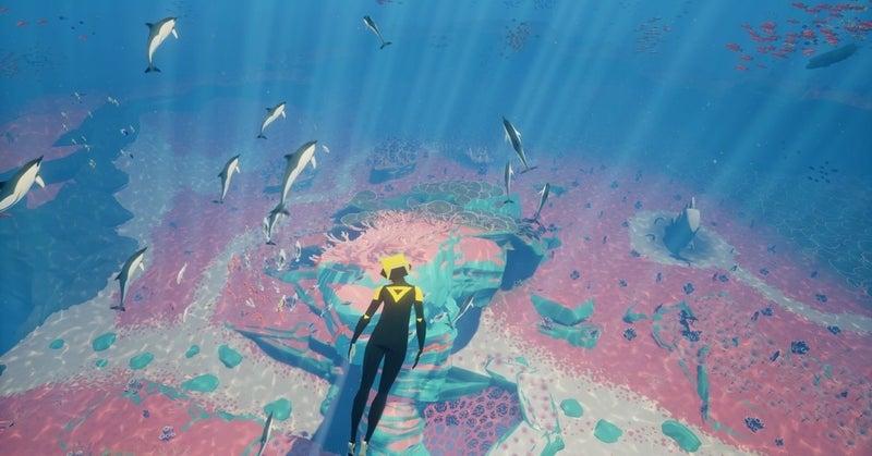 ABZÛ レビュー 美しく、幻想的な水中世界を泳ぎ回る。|赤い猫|note