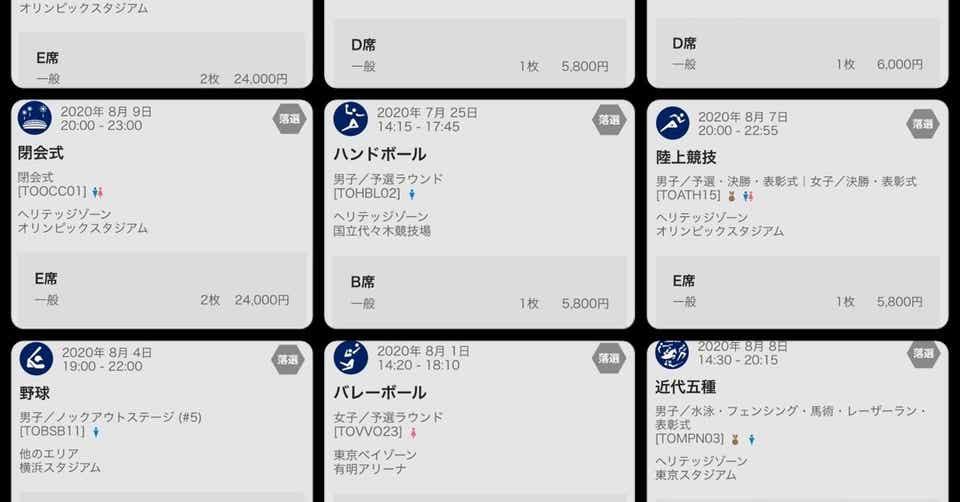 東京 オリンピック チケット 発表