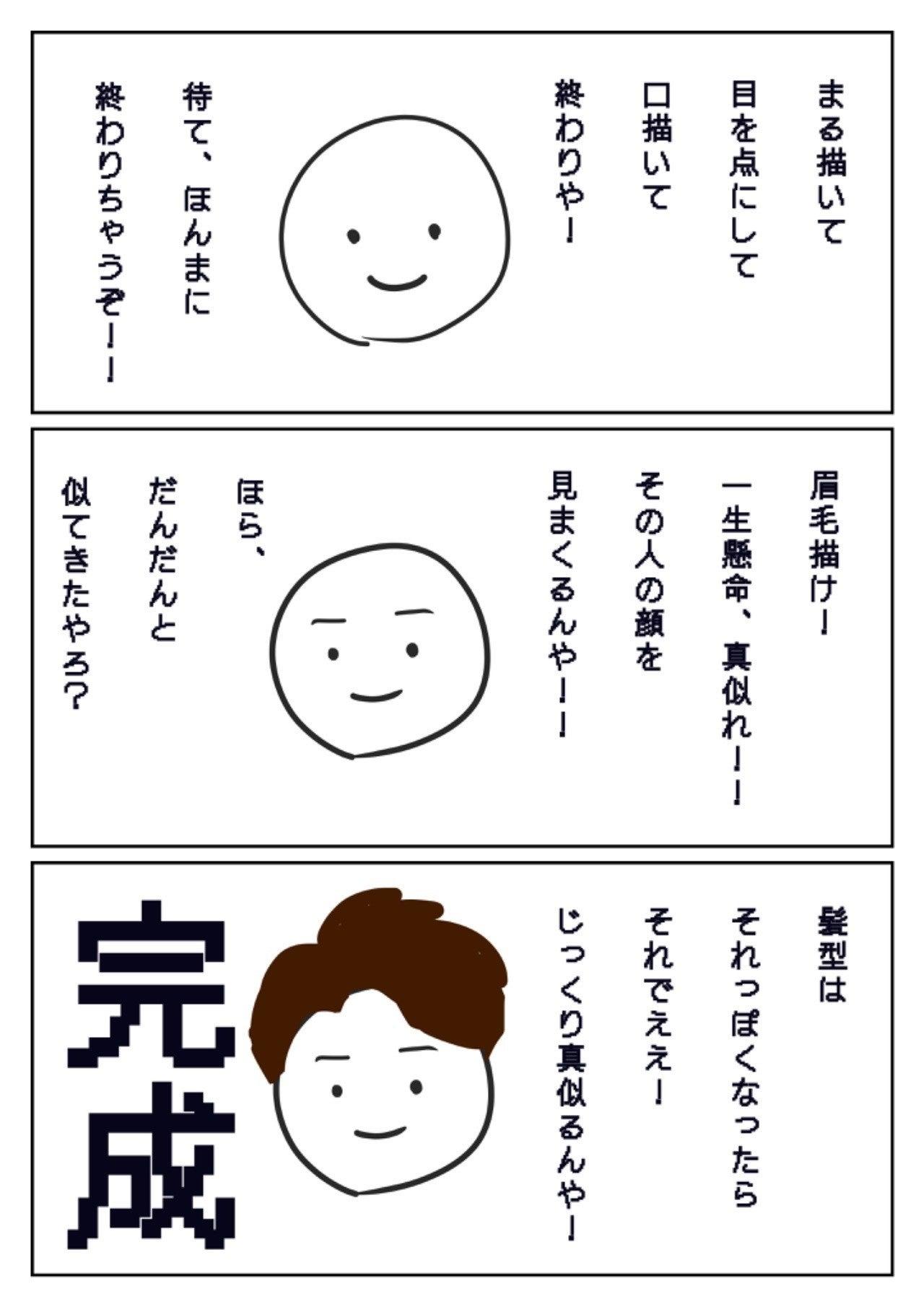 似顔絵 イラスト 書き方
