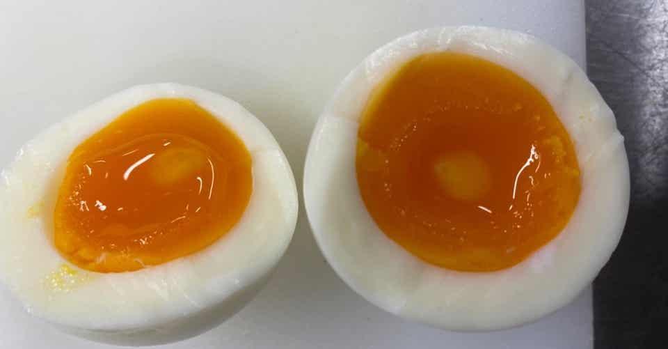 半熟 卵 時間