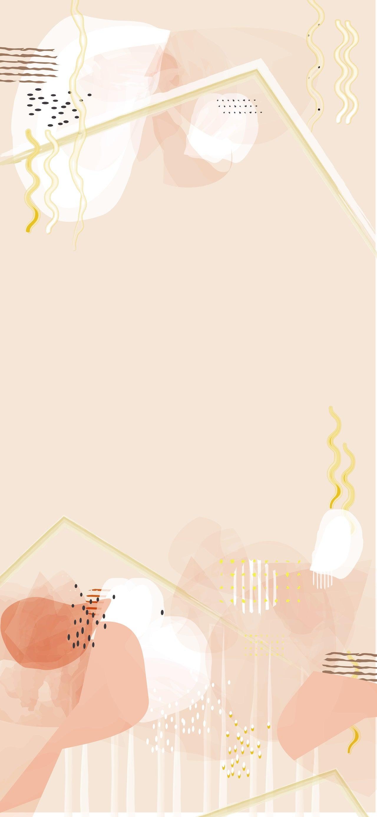 Iphone用の壁紙も作ってみる ネイルの模様にありそうな ゆらぎのあるタッチが好き Akiconute Note