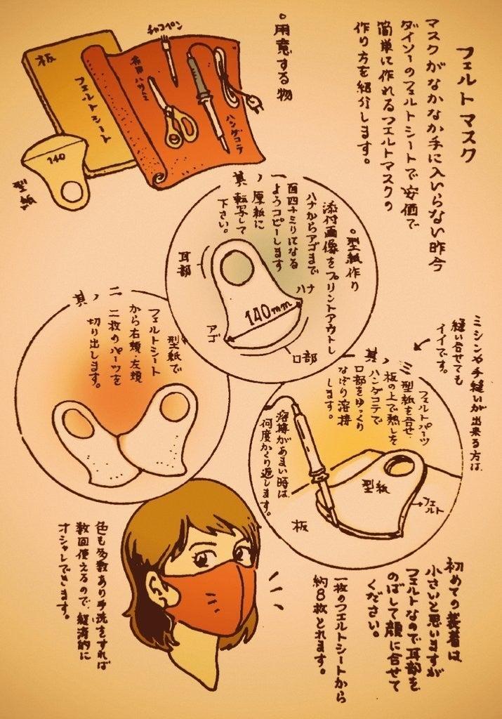 フェルト マスク の 作り方