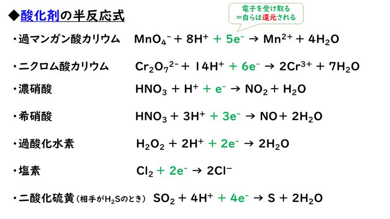 還元 剤 剤 酸化