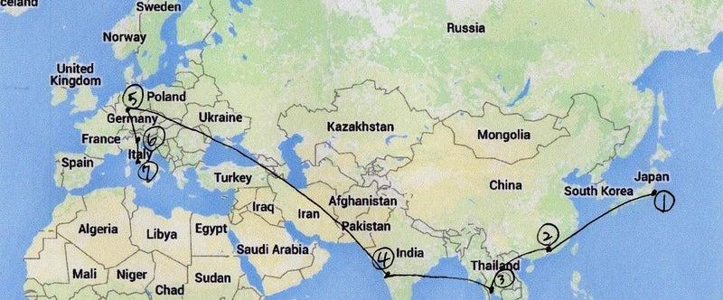 国際宅急便のルート001
