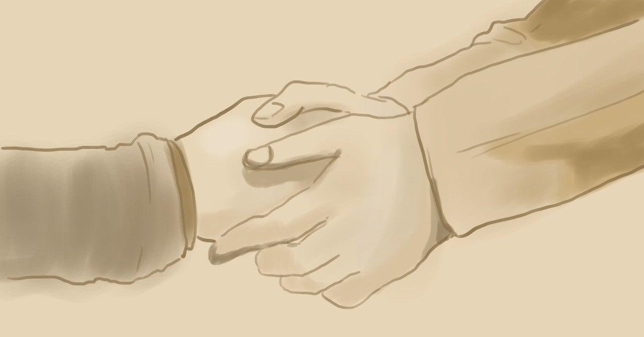 士 指 修道 言葉 ルロイ 握手 2……ハンドサインの秘密