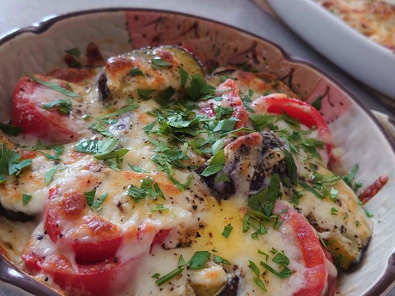 焼き トマト なす と の チーズ ナスとトマトのチーズ焼き