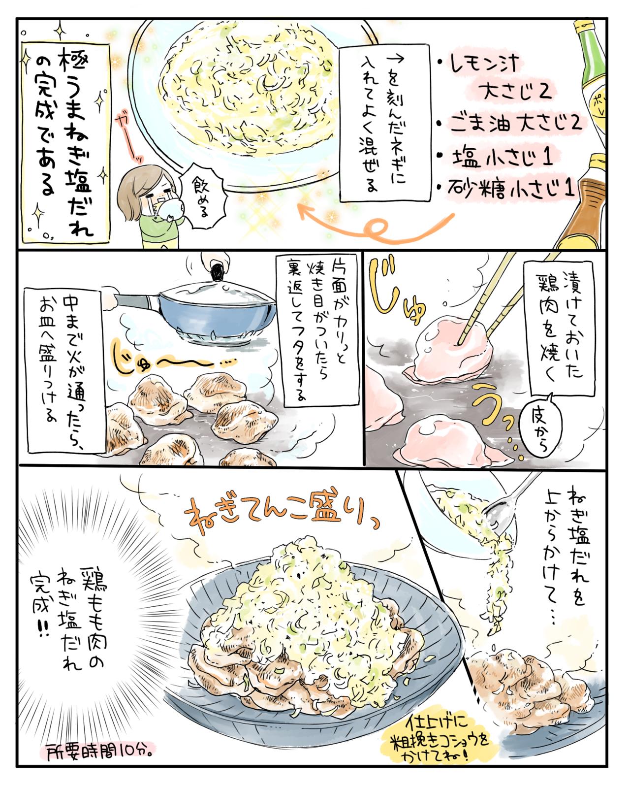 塩 ダレ 鶏肉 ネギ