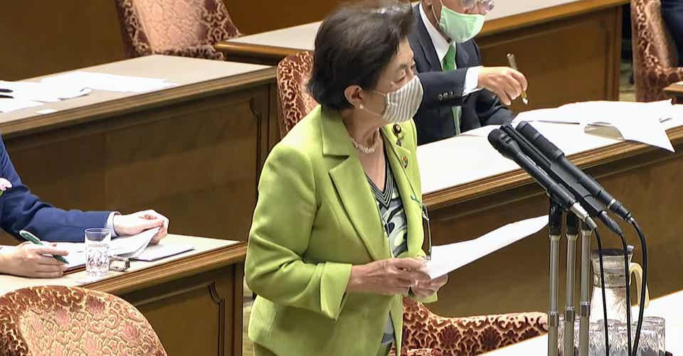 2020.05.26 参議院法務委員会 嘉田議員質疑|雷鳥風月|note
