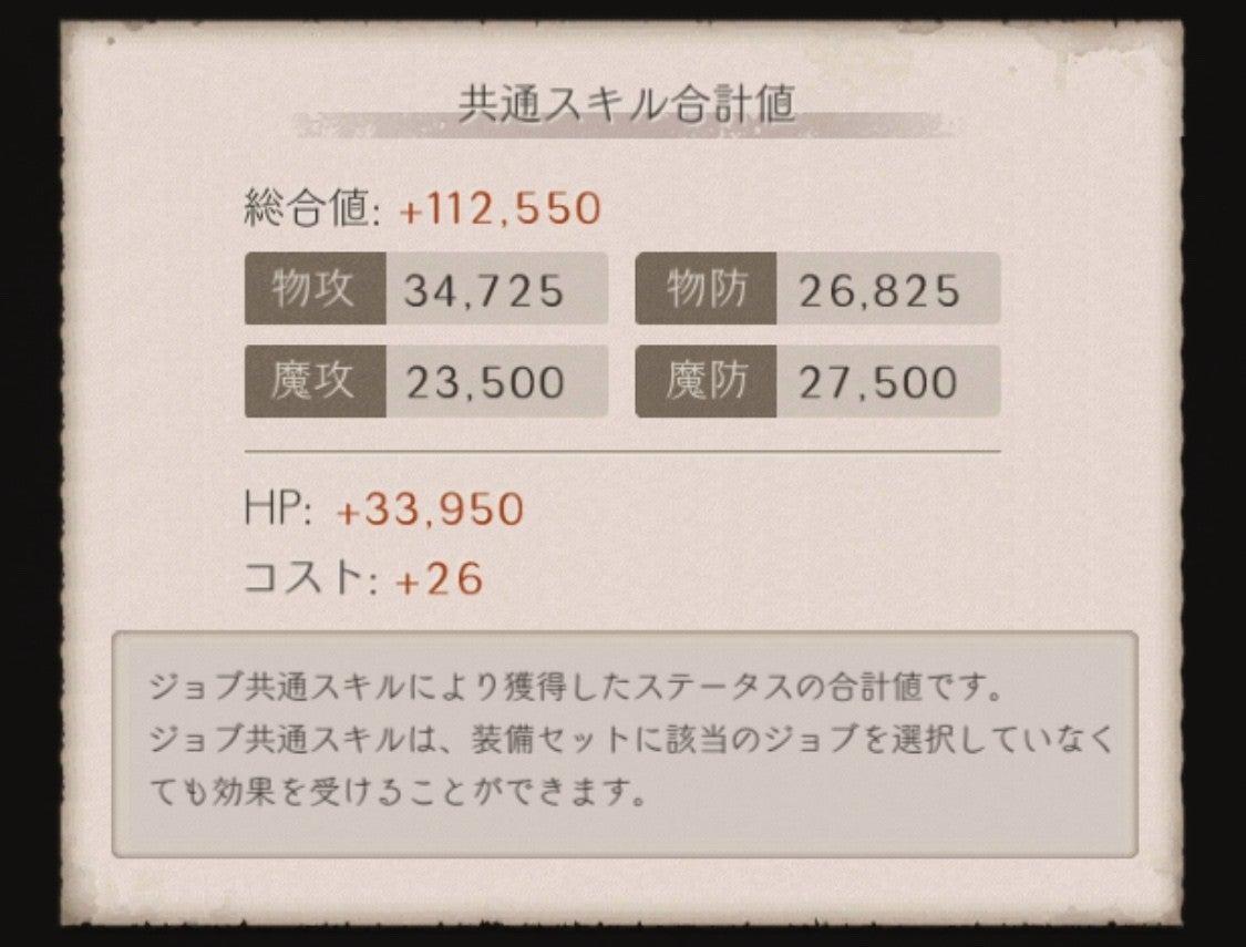 シノアリス キャラクターズ強化 コスト