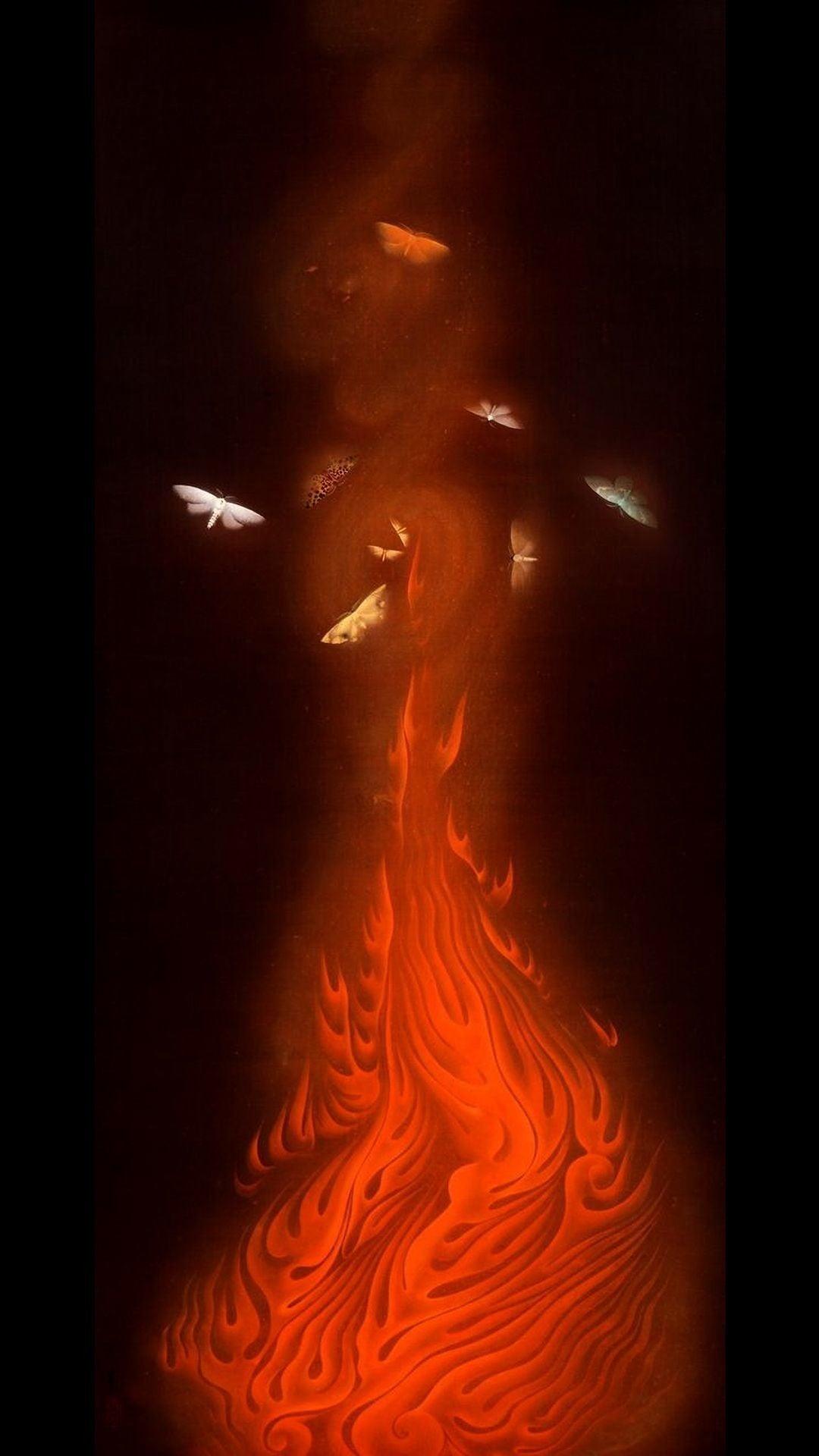 今日の一枚)「炎舞」速水御舟の幽玄な視点|artoday - chiaki|note