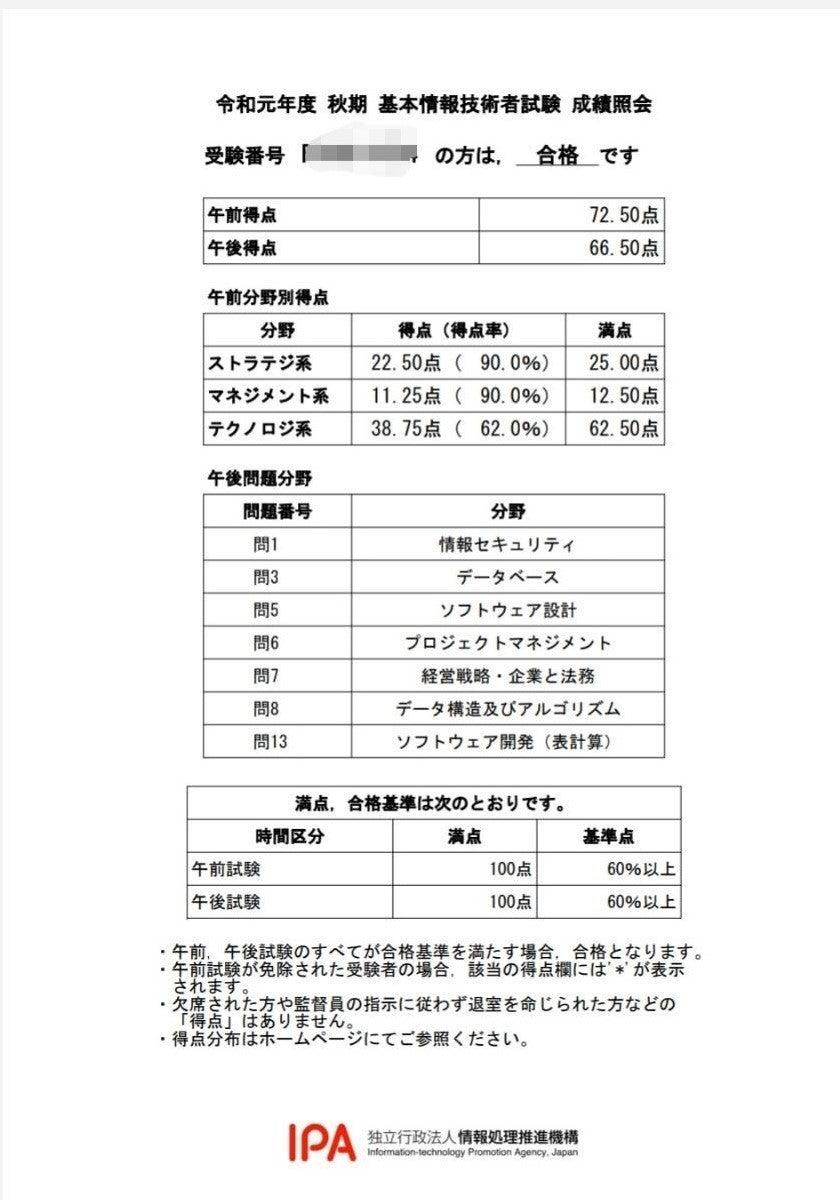 試験 時間 情報 基本