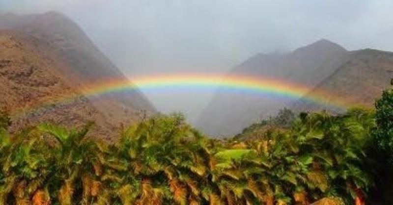 ハワイ 語 虹 ハワイの虹のことわざNo Rain、 No