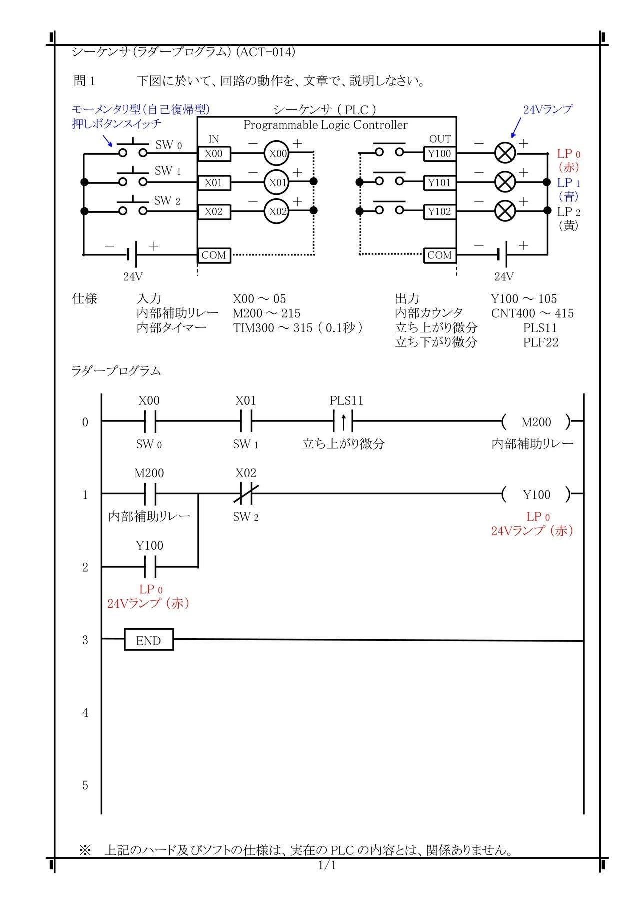 ACT-014) PLCラダーシーケンス制御(PLCロジック・自己保持回路 ...