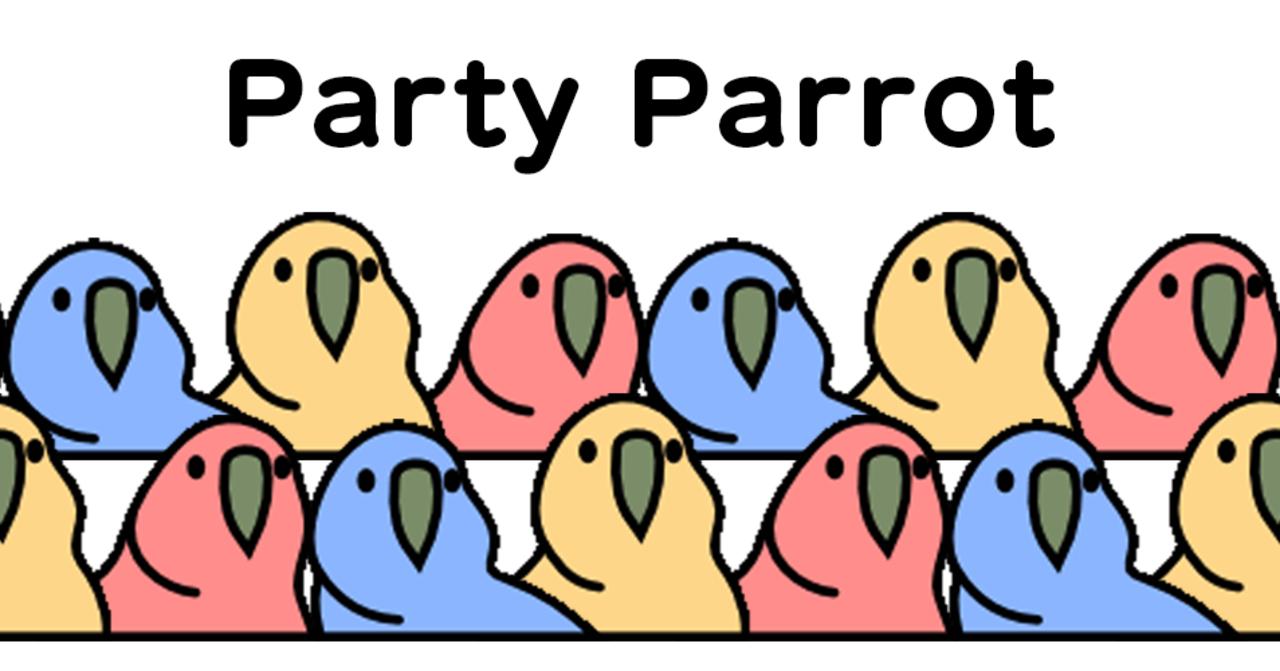 素材 パーティー パロット