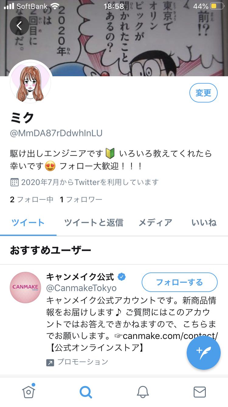 Twitterの裏アカウントのプロフィール画像
