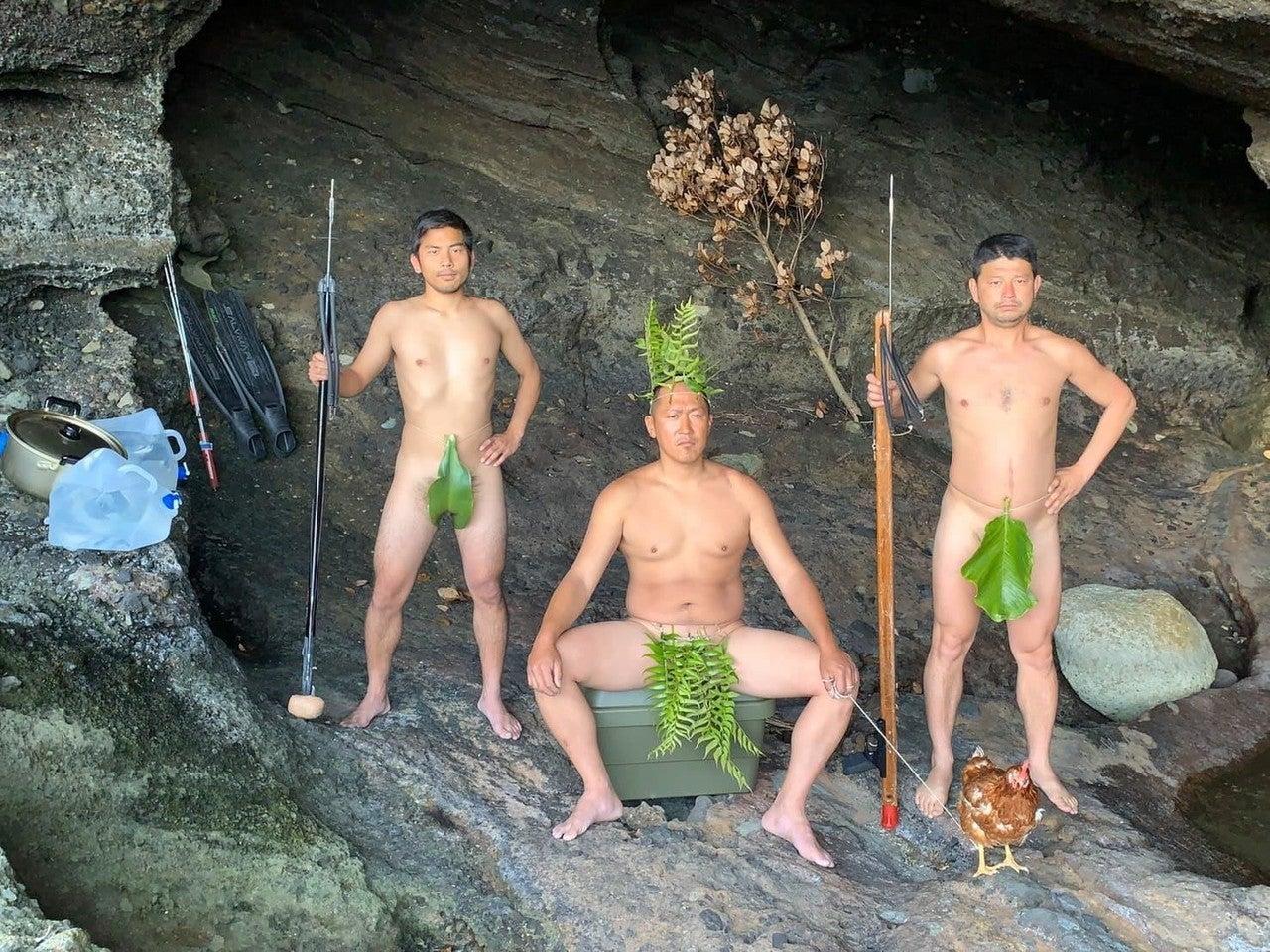 葉っぱ洞窟写真
