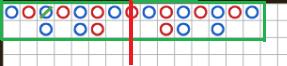 バカラ罫線で勝つ方法2「連勝は同じパターン」 真ん中のバンカーを基準に左右対称に全く同じ勝ち目で進んでいる