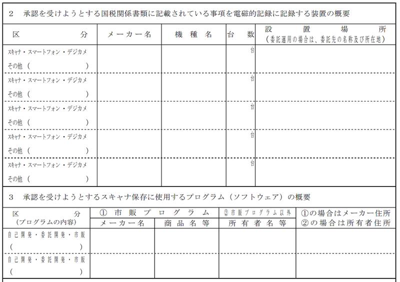 記録 国税 申請 の 書 による 承認 等 の 電磁 的 関係 保存 等 帳簿
