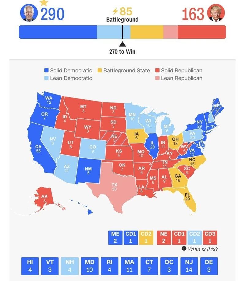 選挙 人 が 最も 多い 州