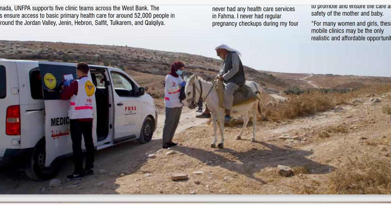 移動式クリニック、コロナ禍のパレスチナを走る
