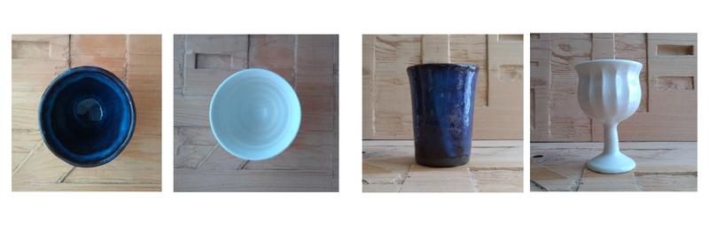 湯呑とワインカップ
