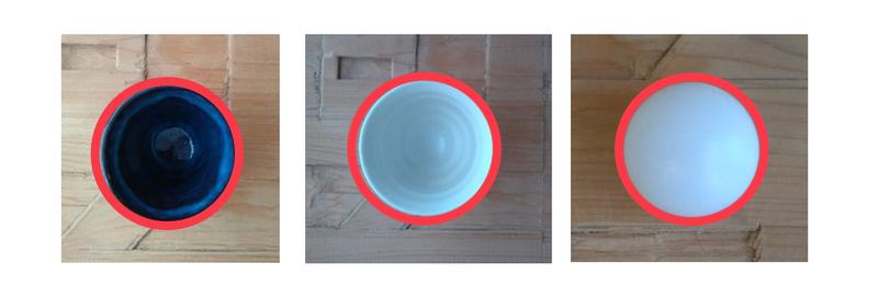 湯呑、ワインカップ、卓球ボール