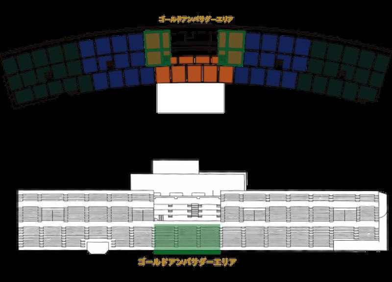 ゴールドアンバサダー座席図