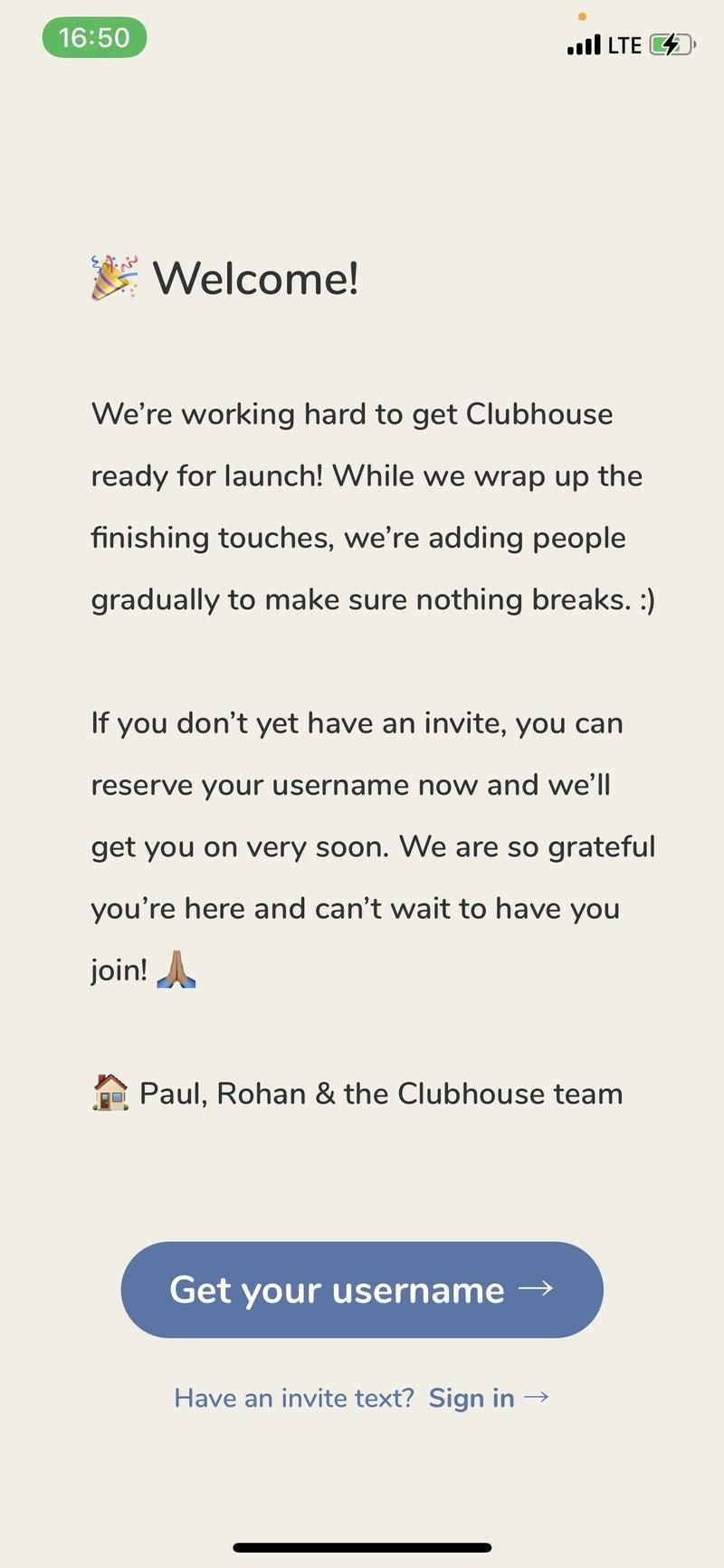 され たい 招待 clubhouse
