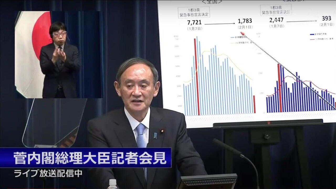 菅総理 緊急事態宣言延長