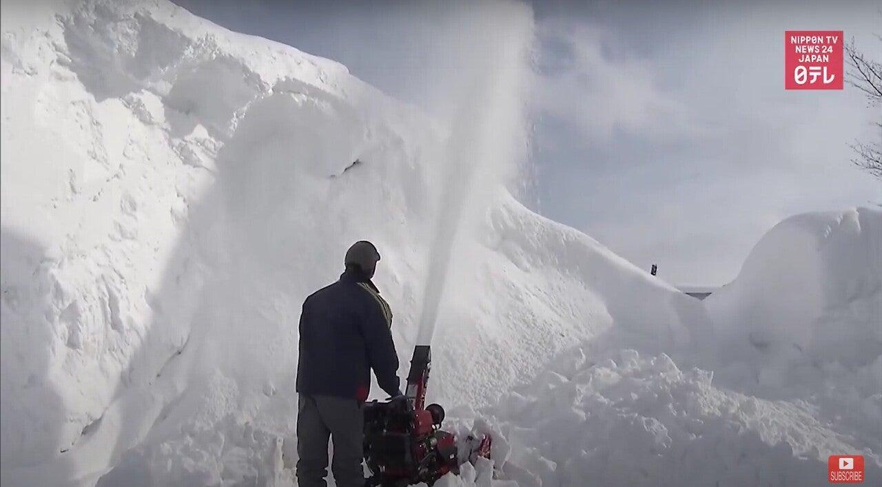 北海道岩見沢市で大雪