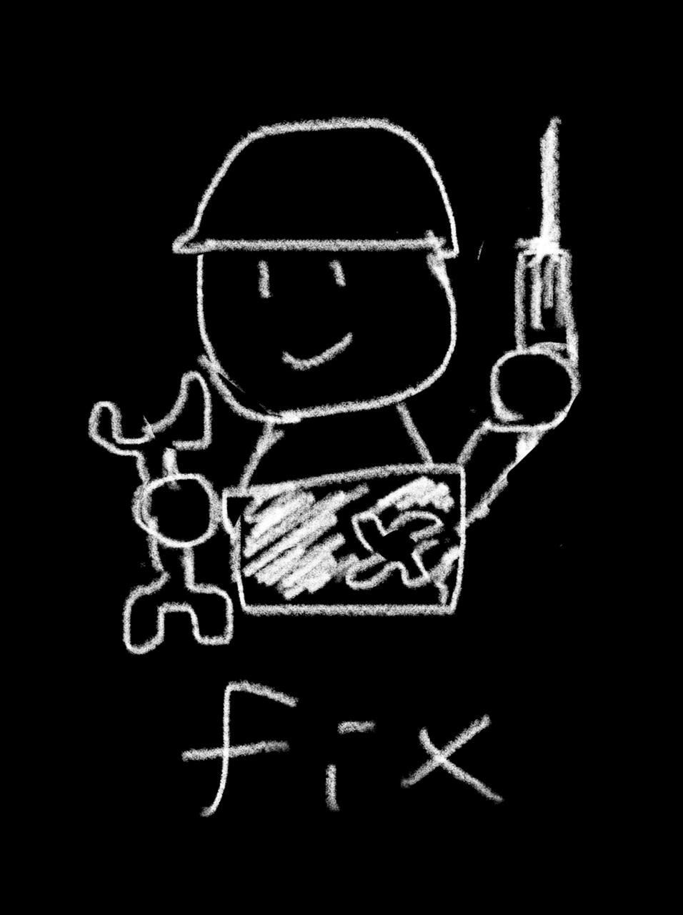 意味 fix