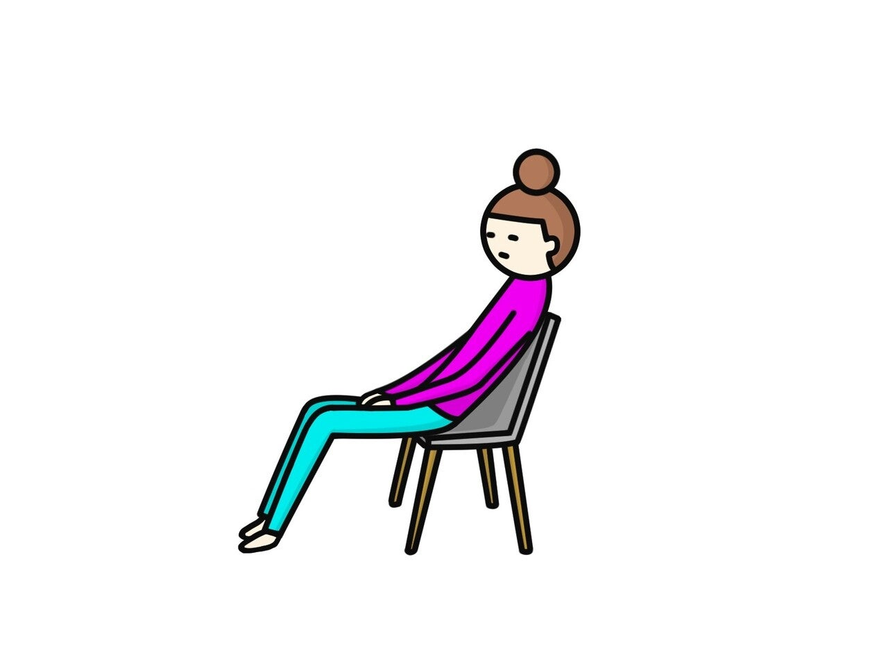 姿勢 椅子 体制 女性