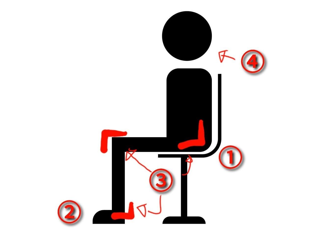 座る姿勢 ポイント