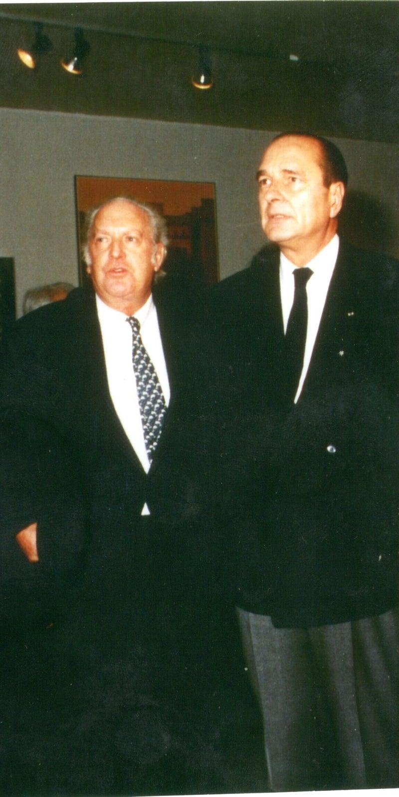 シラクフランス大統領とサローンドートンヌ