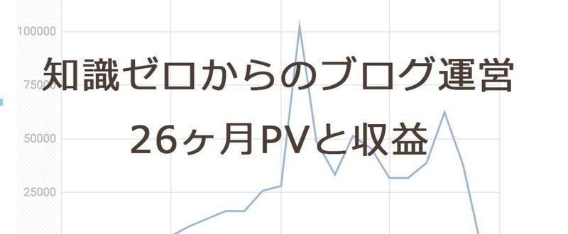 知識ゼロからのブログ運営26ヶ月PVと収益