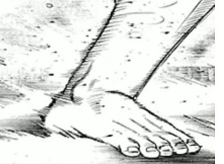 バチバチ 漫画 相撲 足