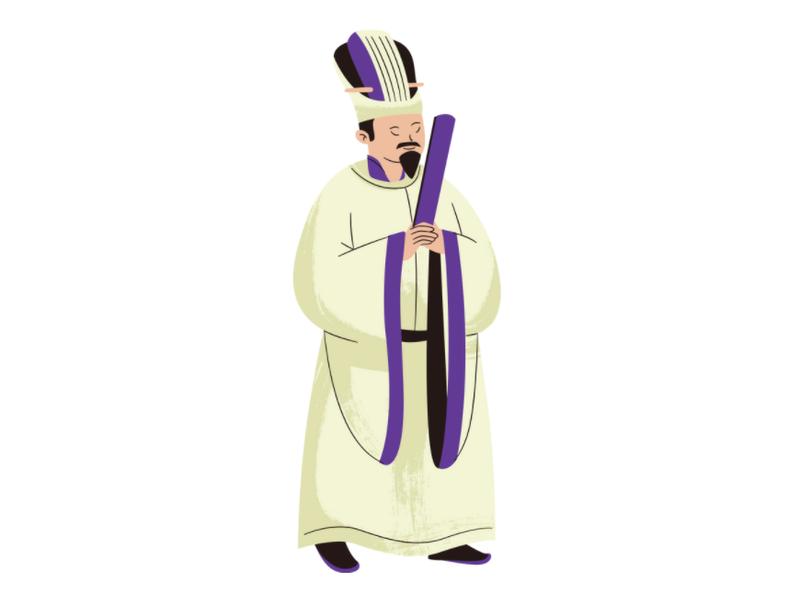 中国の皇帝のイラスト