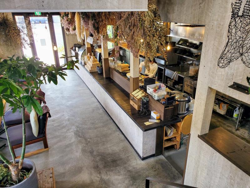 福山『BLUGRE CAFE 』(ブルグリカフェ) 内装