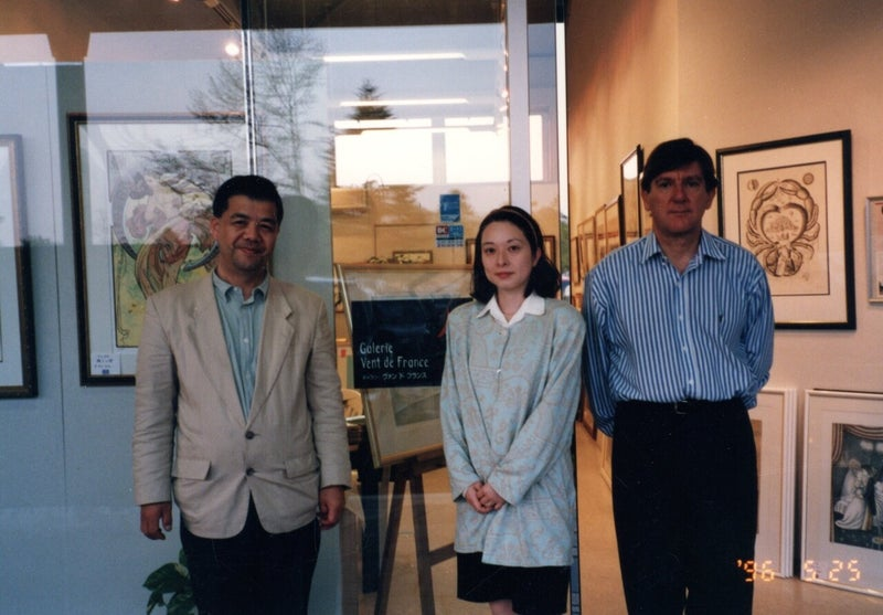 ギャラリーヴァンドフランス武田夫妻 ベルナール・ルノーフランス大使館商務官