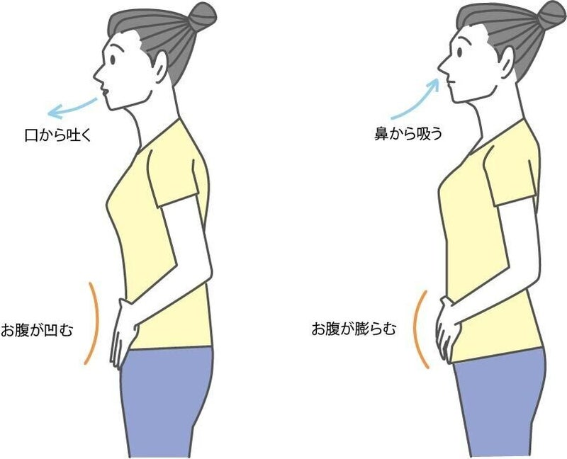 腹式呼吸 やり方