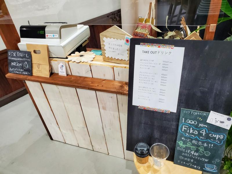 KUKKA cafe+zakka 内装 様子 レジ