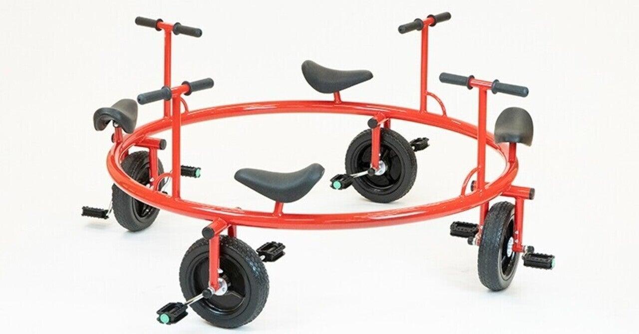 40年前の遊具を復刻! くるくるまわるのりもの遊具の現代版 【ゴーラウンド・サイクル】 ができるまで