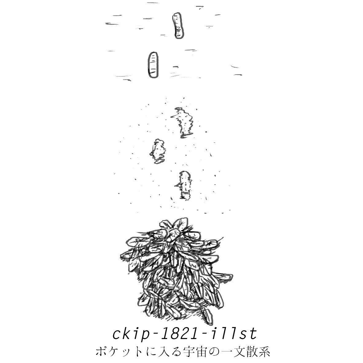[ポケットに入る宇宙の一文散系 ckip-1821]  自分の足跡を残したかった彼は、アスファルトの上を歩くのをや...